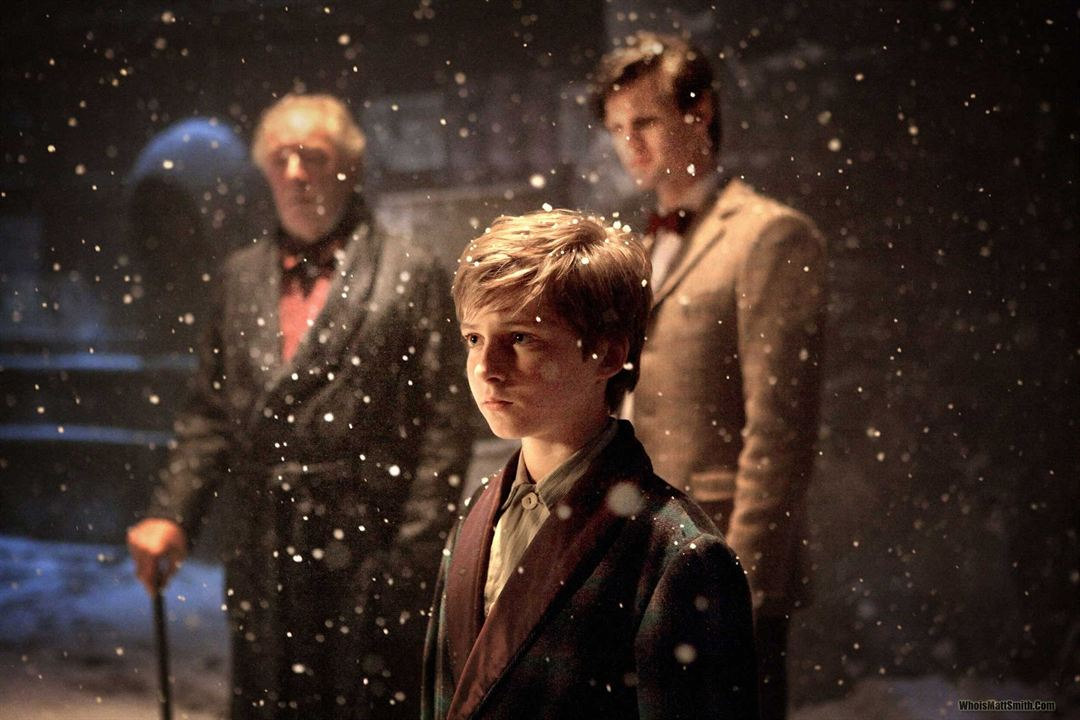 Photo Laurence Belcher, Matt Smith (IV), Michael Gambon