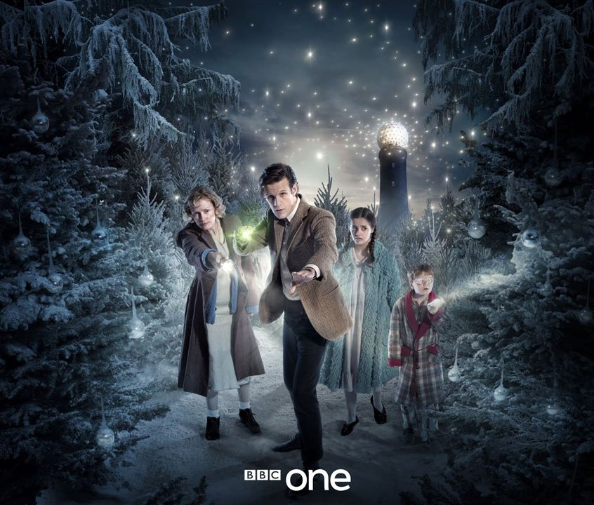 Photo Claire Skinner, Holly Earl, Matt Smith (XI), Maurice Cole