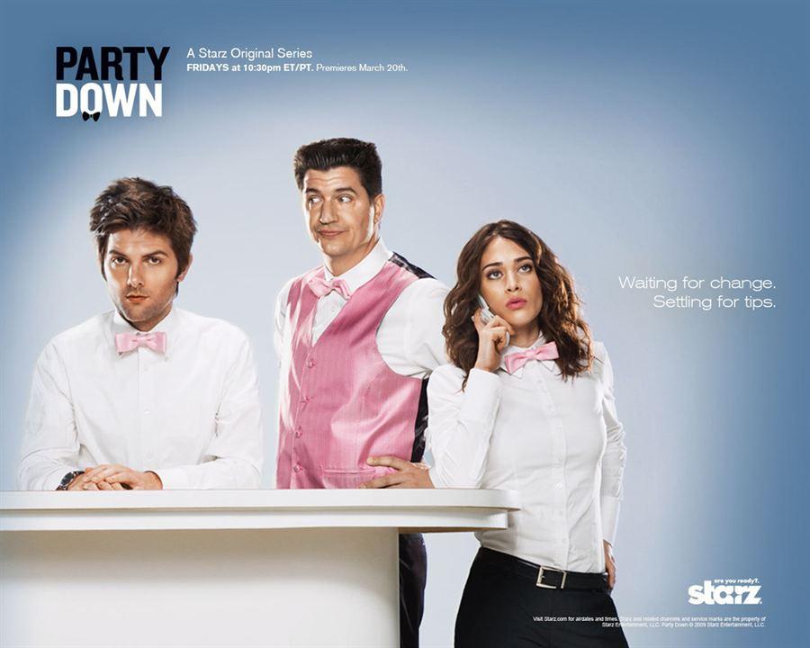 Party Down : Photo Adam Scott, Ken Marino, Lizzy Caplan