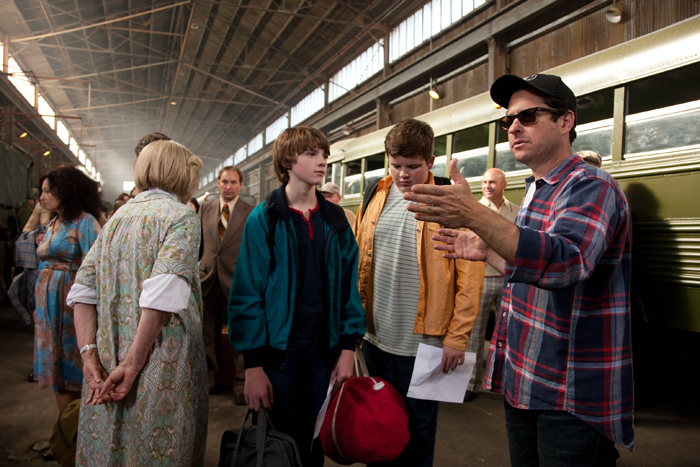 Super 8 : Photo J.J. Abrams, Joel Courtney, Riley Griffiths