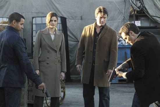 Castle : Photo Jon Huertas, Nathan Fillion, Seamus Dever, Stana Katic