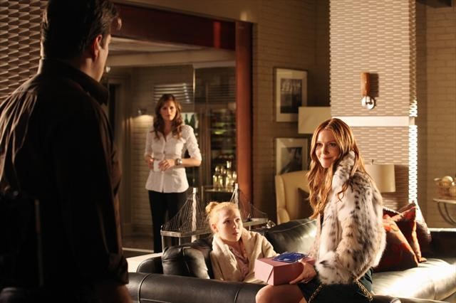 Photo Darby Stanchfield, Molly C. Quinn, Nathan Fillion, Stana Katic