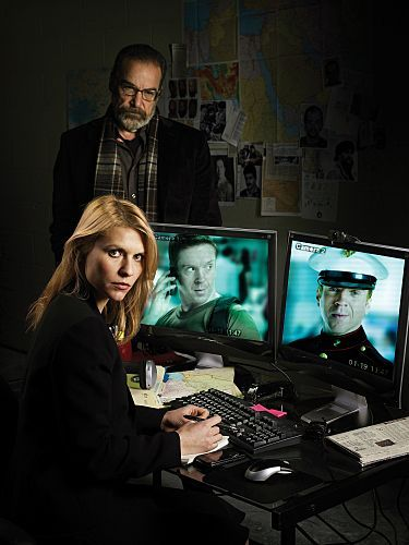 Homeland : Photo Claire Danes, Damian Lewis, Mandy Patinkin