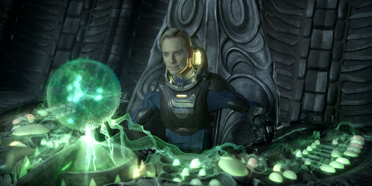 Prometheus : Photo Michael Fassbender