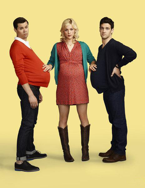 Photo Andrew Rannells, Georgia King, Justin Bartha