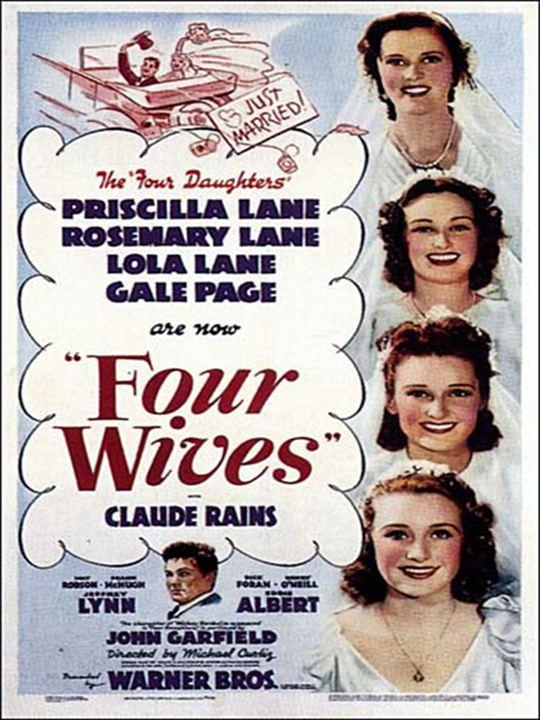 Quatre jeunes femmes : affiche