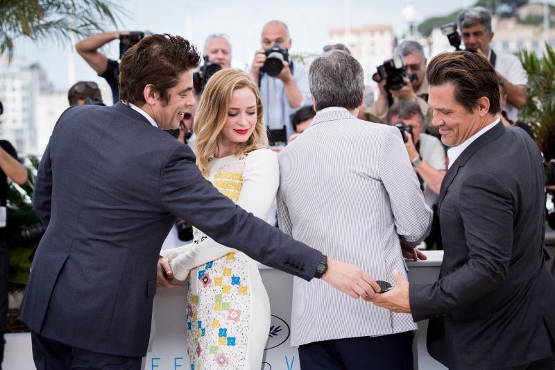 Benicio del Toro, Emily Blunt, Denis Villeneuve et Josh Brolin