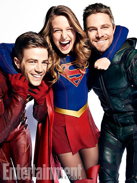 Les photos du cross-over entre Flash, Arrow, Supergirl et Legends of Tomorrow