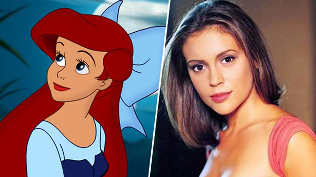 Ariel (La petite sirène), inspirée par Alyssa Milano