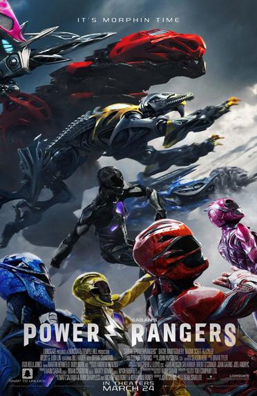 Les Power Rangers et leurs Zords en action
