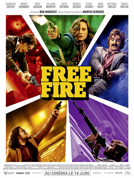"""Free Fire"" avec Brie Larson, Cillian Murphy, Armie Hammer ..."