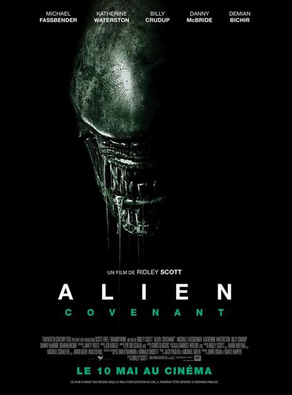 """Quel est le titre de travail de """"Alien: Covenant"""" ?"""