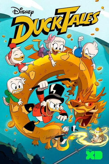 """L'une des affiches de """"DuckTales"""" (""""La Bande à Picsou"""")"""