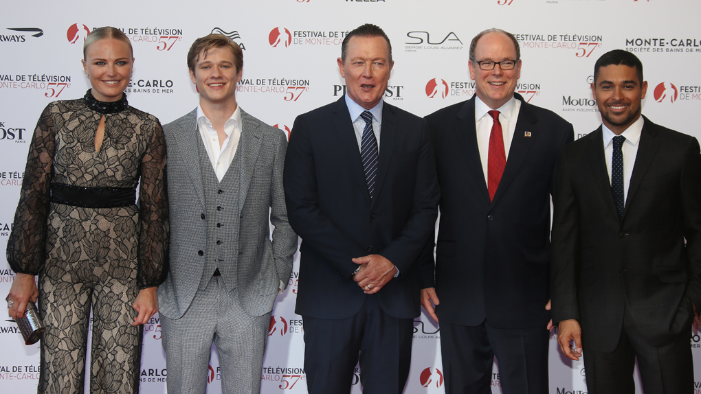 Malin Akerman, Lucas Till, Robert Patrick, le prince Albert II de Monaco et Wilmer Valderrama