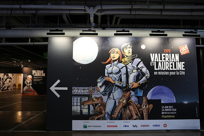"""L'exposition """"Valérian et Laureline en mission pour la Cité"""""""