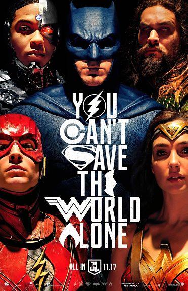 """""""On ne peut sauver le monde seul"""", dit l'affiche de Justice League"""