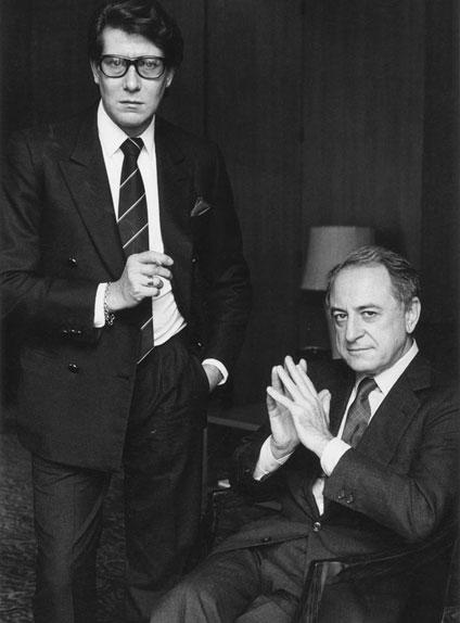 Yves Saint Laurent et Pierre Bergé