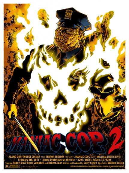Maniac Cop 2 - Affiche réalisée par Jason Edmiston