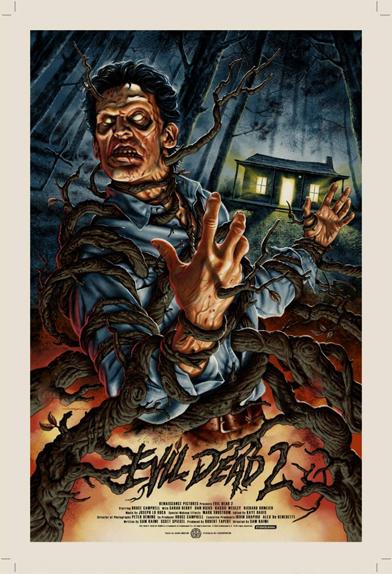 Evil Dead 2 - Affiche réalisée par Jason Edmiston