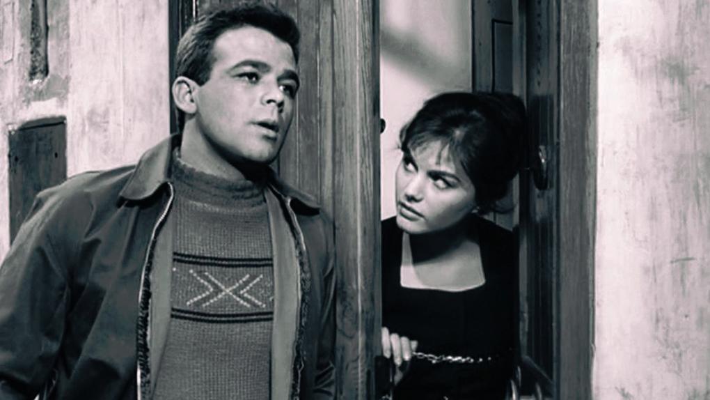 """L'actrice dans son tout premier rôle au cinéma : """"Le Pigeon"""", en 1959."""