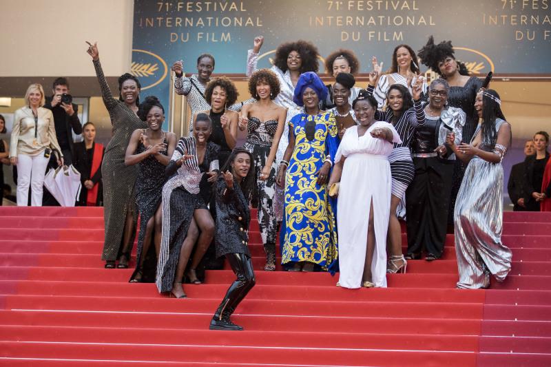 """Les actrices de """"Noire n'est pas mon métier"""" à Cannes"""