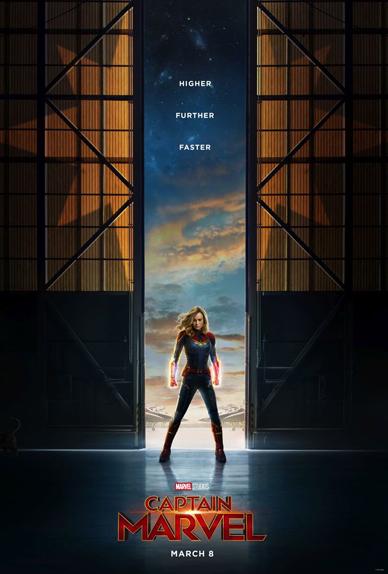 Captain Marvel avec Brie Larson, Jude Law, Samuel L. Jackson...