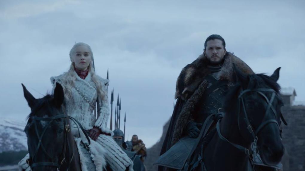 Daenerys etJon Snow débarquent à Winterfell