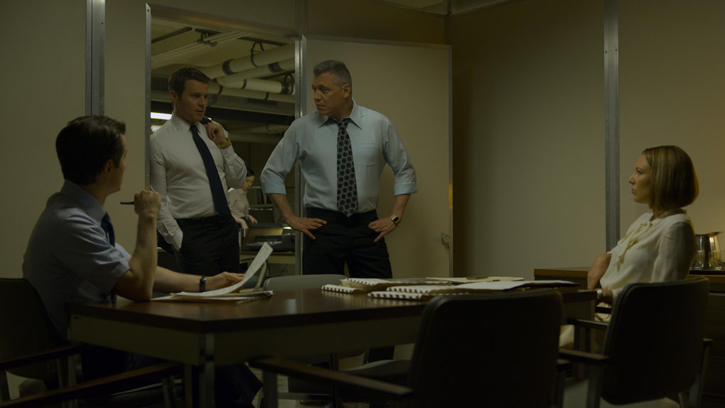 Les agents du FBI (Jonathan Groff, Holt McCallany, Anna Torv et Joe Tuttle)