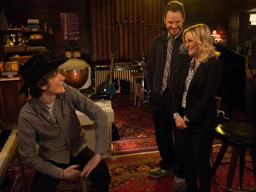 Photo Amy Poehler, Bo Burnham, Chris Pratt