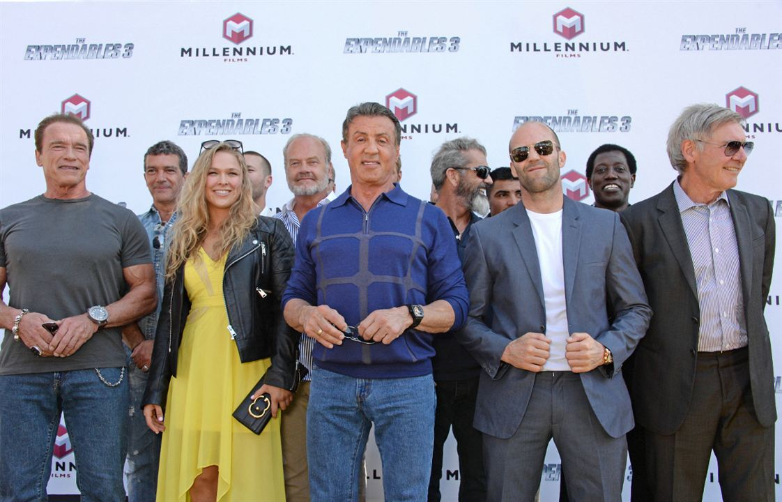 Expendables 3 : Photo promotionnelle Antonio Banderas, Arnold Schwarzenegger, Harrison Ford, Jason Statham, Mel Gibson
