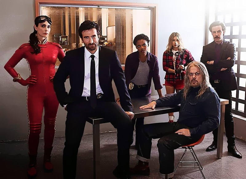 Powers : Photo Eddie Izzard, Michelle Forbes, Noah Taylor, Olesya Rulin, Sharlto Copley