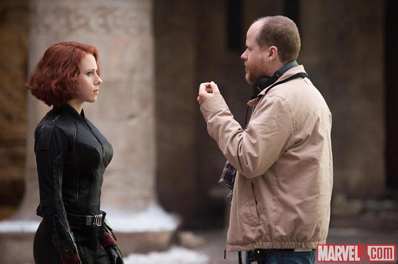 Avengers : L'ère d'Ultron : Photo Joss Whedon, Scarlett Johansson