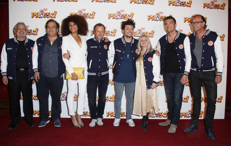 Les Profs 2 : Photo promotionnelle Arnaud Ducret, Didier Bourdon, Isabelle Nanty, Kev Adams, Pierre-François Martin-Laval