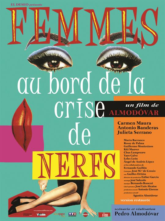 affiche du film femmes au bord de la crise de nerfs affiche 1 sur 3 allocin. Black Bedroom Furniture Sets. Home Design Ideas