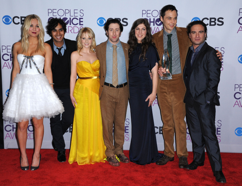 Photo promotionnelle Jim Parsons, Johnny Galecki, Kaley Cuoco, Kunal Nayyar, Mayim Bialik