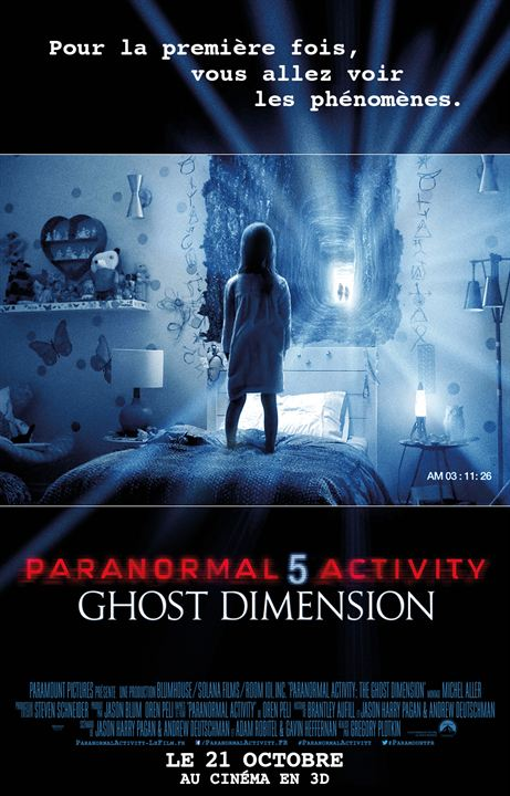 Paranormal Activity 5 Ghost Dimension : Affiche