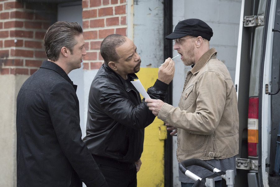 Photo Chris Elliott, Ice-T, Peter Scanavino