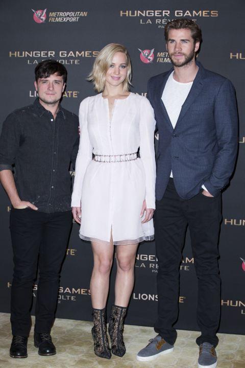 Hunger Games - La Révolte : Partie 2 : Photo promotionnelle Jennifer Lawrence, Josh Hutcherson, Liam Hemsworth
