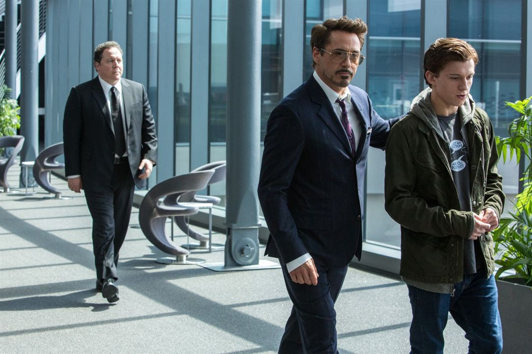 Spider-Man: Homecoming : Photo Jon Favreau, Robert Downey Jr., Tom Holland