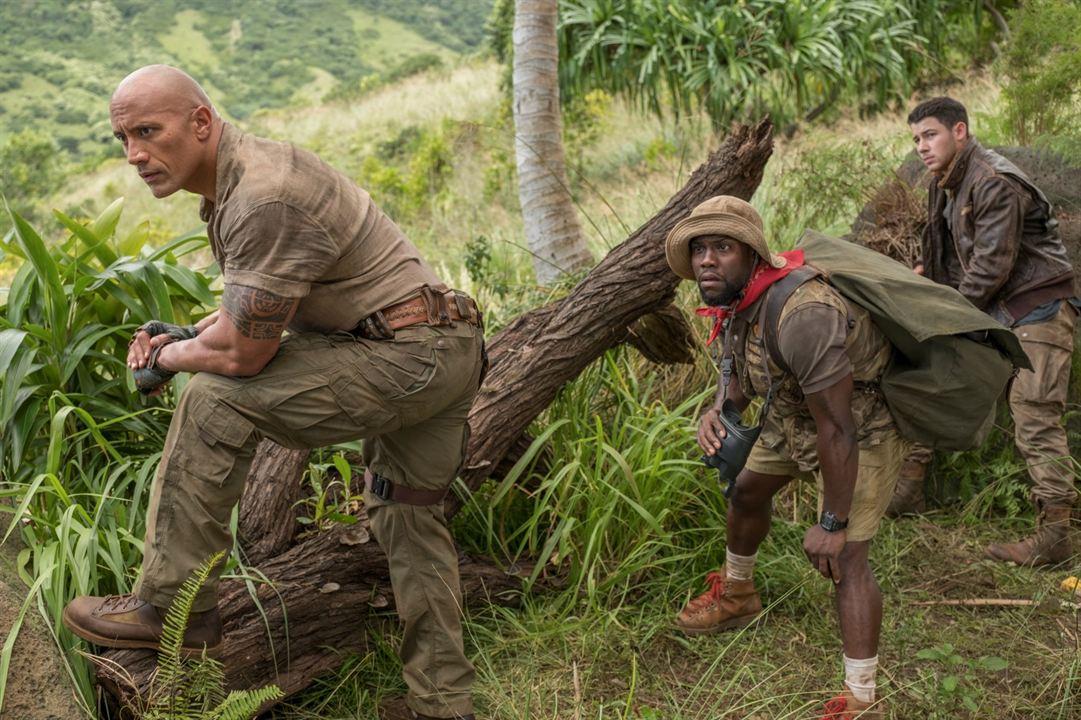 Jumanji : Bienvenue dans la jungle : Photo Dwayne Johnson, Kevin Hart, Nick Jonas