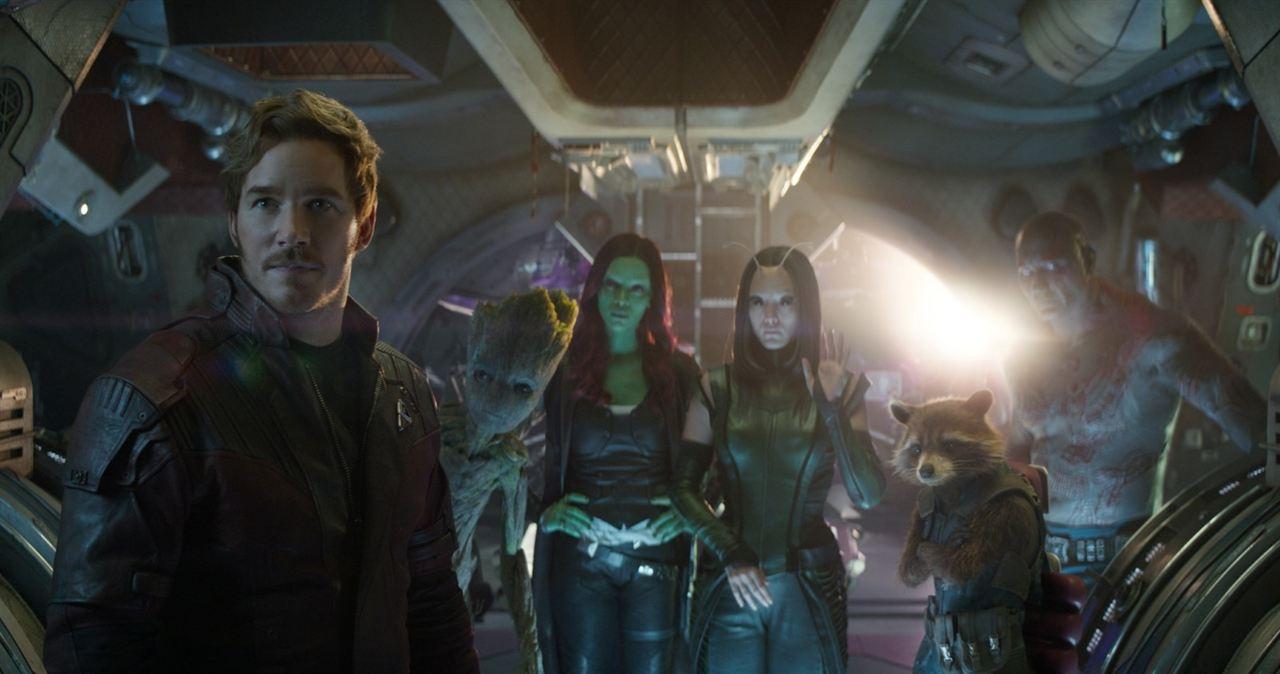 Avengers: Infinity War : Photo Chris Pratt, Dave Bautista, Pom Klementieff, Zoe Saldana