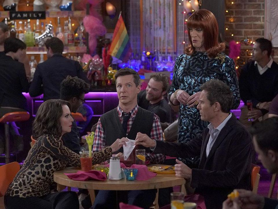 Photo Clinton Leupp, Eric McCormack, Megan Mullally, Sean Hayes