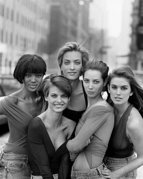 Photo Cindy Crawford, Linda Evangelista, Naomi Campbell, Tatjana Patitz