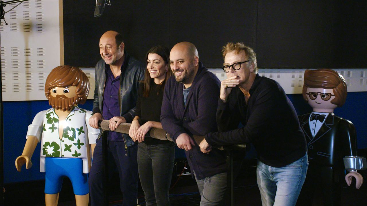 Playmobil, Le Film : Photo promotionnelle Franck Dubosc, Jenifer Bartoli, Jérôme Commandeur, Kad Merad