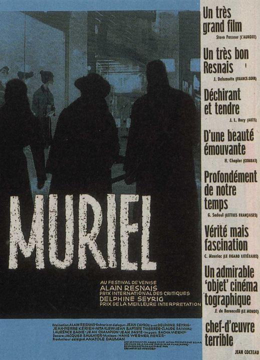 Muriel ou le temps d'un retour : Affiche