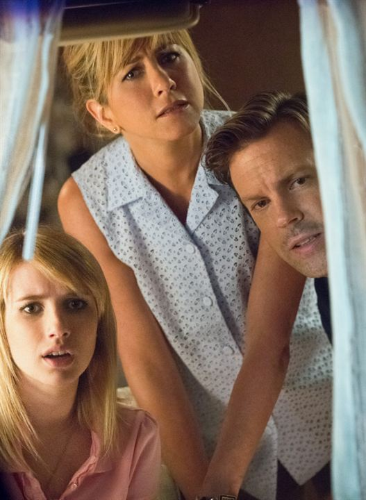 Photo Emma Roberts, Jason Sudeikis, Jennifer Aniston