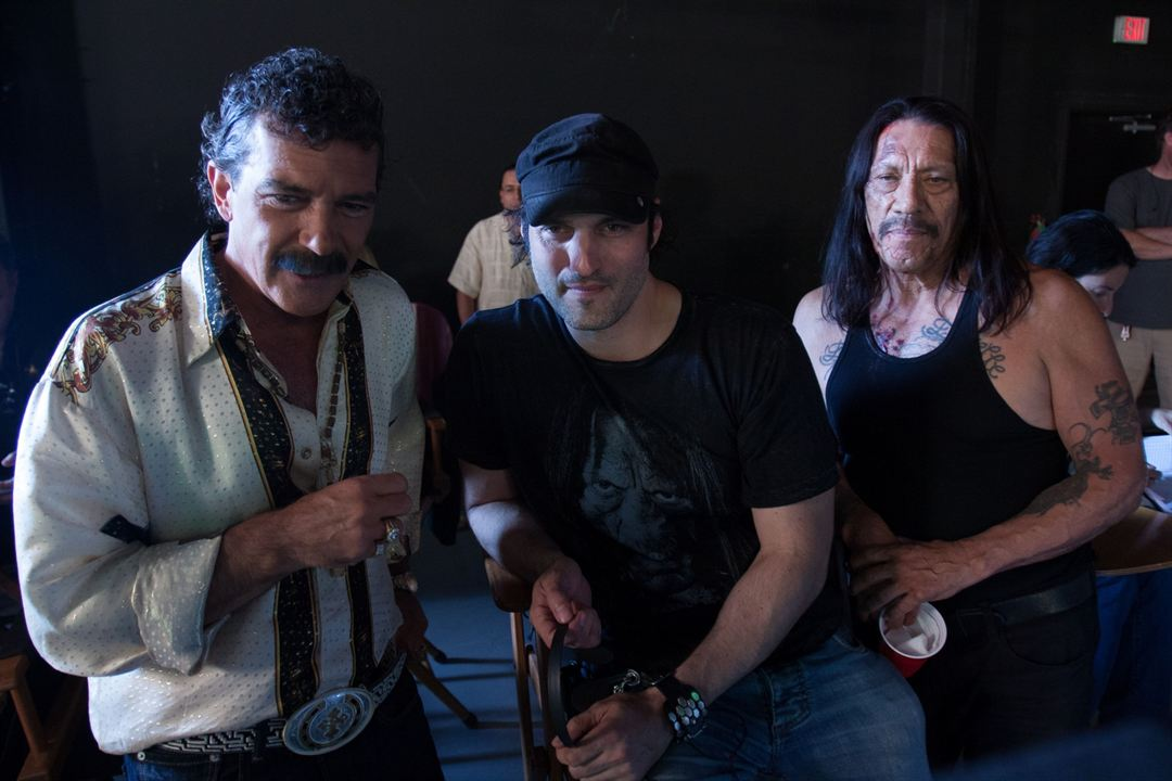 Machete Kills : Photo Antonio Banderas, Danny Trejo, Robert Rodriguez