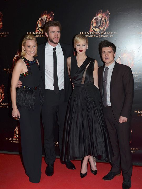 Hunger Games - L'embrasement : Photo promotionnelle Elizabeth Banks, Jennifer Lawrence, Josh Hutcherson, Liam Hemsworth