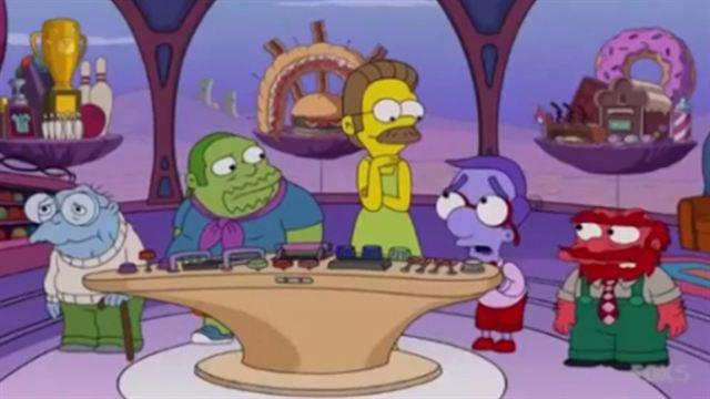 Joie, Tristesse, Peur, Colère et Dégoût sont aussi dans la tête des personnages des Simpson !