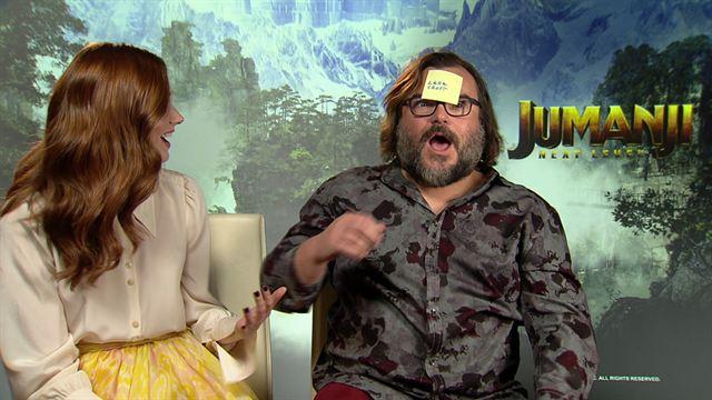Jumanji : Karen Gillan et Jack Black jouent au jeu du post-it spécial jeux vidéo